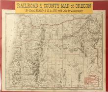 Railroad & County Map of Oregon, 1891