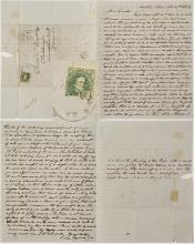 Civil War Letter from Castle Hill (Postmarked Columbus) about Horrid Conditions