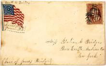 Civil War Patriotic Cover with handwritten