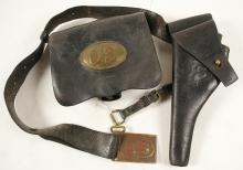 Indian Wars era US Army holster, belt and pouch