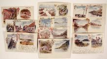 Rare Set of Alaska American-Souvenir-Card Postcards
