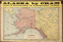 Map of Alaska by Cram