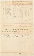 Walker Lake and Bodie Toll Road Receipt Tallies