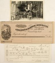 Bodie Consolidated Mining Company Assessment, Check, & Postcard