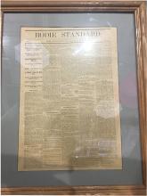 Framed Bodie Standard Newspaper