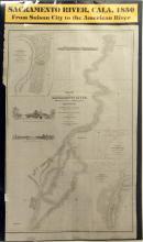 c.1850 Chart of the Sacramento River