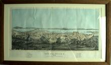 1854 View Map of San Francisco and the Bay