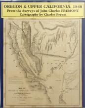 Map of Oregon & Upper California, Gold Rush, 1848