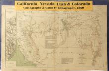 Map of California, Nevada, Utah & Colorado, 1860