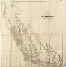 Map of Public Surveys in California & Nevada Territory by Surveyor General in 1863