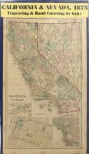 Map of California & Nevada, 1875