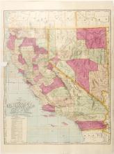 Map of California & Nevada, c.1900
