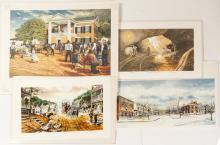 4 Different Signed Dahlonega Prints