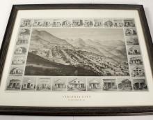 Reprint of Virginia City, Nevada Panorama by GT Brown, 1861