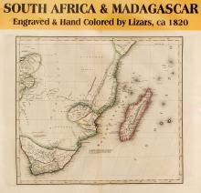 Map of South Africa & Madagascar, c.1820
