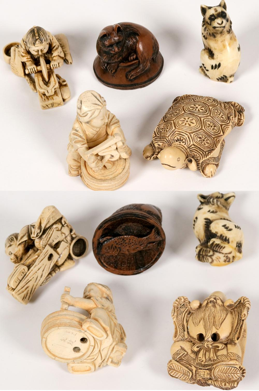 Sold Price Japanese Netsuke Carved Resin Replicas 5 Pieces 112768 February 5 0120 8 00 Am Pst