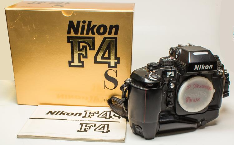 Nikon F4 S Camera Body With Motor Drive In Original Box With