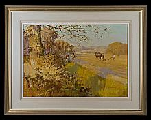 JOHN HASKINS AN ORIGINAL OIL ON CANVAS,
