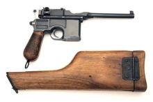 MAUSER, GERMANY A 7.63mm (MAUSER) SEMI-AUTOMATIC PISTOL, MODEL 'C96' WARTIME COMMERCIAL or