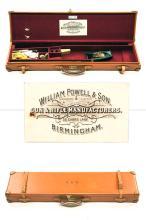 WILLIAM POWELL & SON A BRADY LEATHER SINGLE GUNCASE,