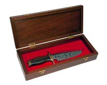 A SCARCE PRESENTATION CASED LIMITED EDITION BOWIE KNIFE, MODEL 'TEXAS RANGER 150TH ANNIVERSARY', serial no. 236,
