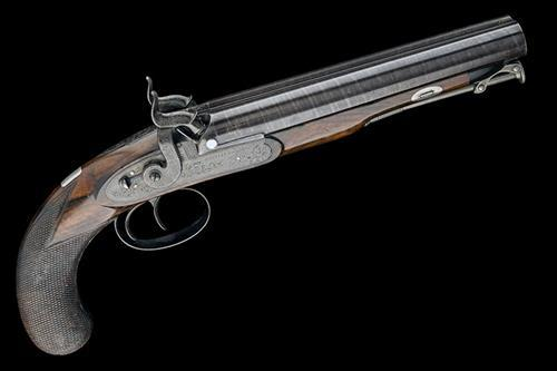 WESTLEY RICHARDS, LONDON A FINE 15-BORE PERCUSSION DOUBLE-BA