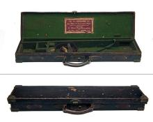 W.W. GREENER A BRASS-CORNERED LEATHER SINGLE ROOK-RIFLE CASE,