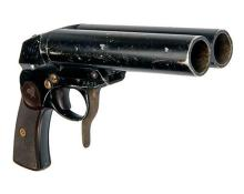 ECKO, GERMANY A SCARCE 27mm DOUBLE-BARRELLED SIGNAL-PISTOL, serial no. 363K,