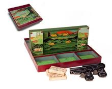 WELLS, LONDON A RARE BOXED 'EXIT BUNNY' SHOOTING GAME,