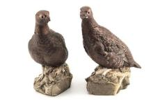 ROYAL DOULTON (BESWICK) A BRACE OF 'THE FAMOUS GROUSE' WHISKEY DECANTERS,