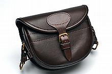 † A NEW AND UNUSED HANDMADE LEATHER CARTRIDGE BAG,