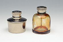 TWO OIL BOTTLES,
