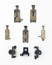 * VARIOUS MAKERS A COLLECTION OF EIGHT SIGHT ADJUSTMENT TOOLS AND AUXILLIARY SIGHTS,
