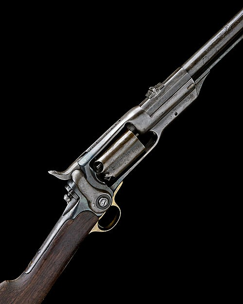 * COLT, USA A .56 PERCUSSION FIVE-SHOT REVOLVING RIFLE, MODEL '1855 SIDE-HAMMER', serial no. 11321,