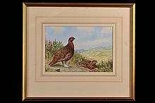 C. STANLEY TODD AN ORIGINAL FRAMED WATERCOLOUR ENTITLED 'THE FAMOUS GROUSE',