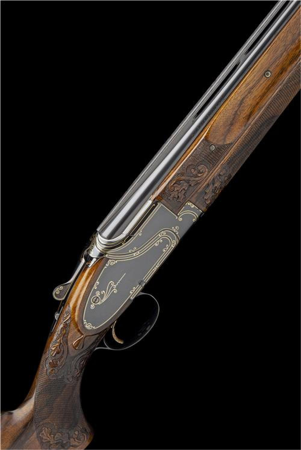 BROWNING ARMS COMPANY A RARE 12-BORE 'I1' SIDEPLATED SINGLE-