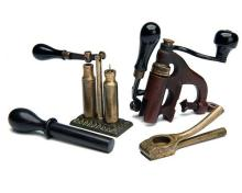 A COLLECTION OF VINTAGE 8-BORE RELOADING TOOLS,