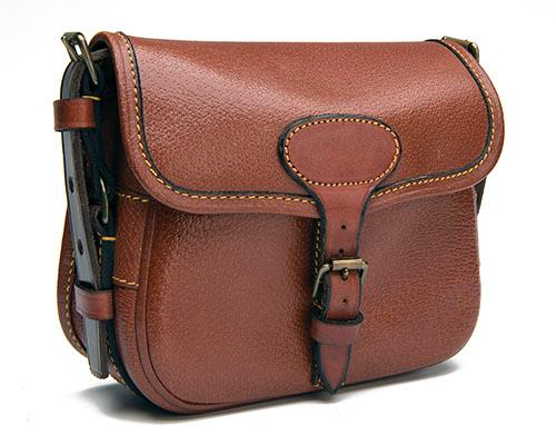 JAMES PURDEY & SONS A SMALL LEATHER SUEDE-LINED CARTRIDGE BAG,