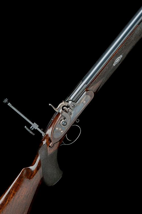 JOHN RIGBY & CO., DUBLIN & LONDON A SUPERB MODERN .451 PERCUSSION MATCH-RIFLE, serial no. 2009/1,