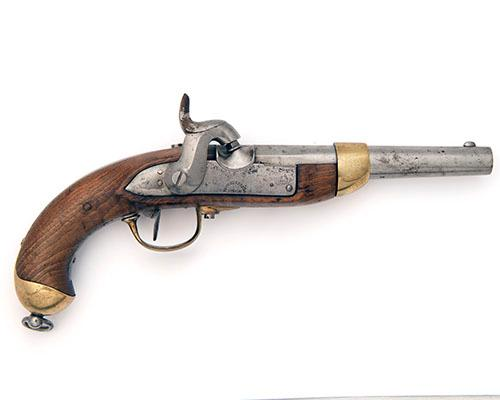 * BEURET FRERES, LIEGE A GOOD .700 PERCUSSION SINGLE-SHOT SERVICE-PISTOL, MODEL ''SWISS 1842'', serial no. 623,