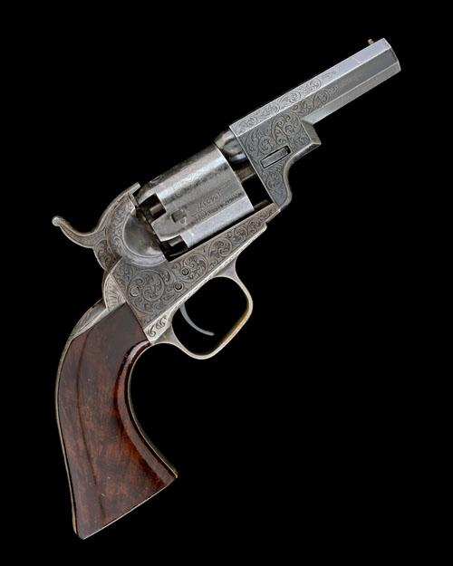 COLT, USA A REMANUFACTURED AND ENGRAVED .31 FIVE-SHOT PERCUSSION POCKET REVOLVER, MODEL ''1849 ''WELLS-FARGO'''', serial no. 164037,