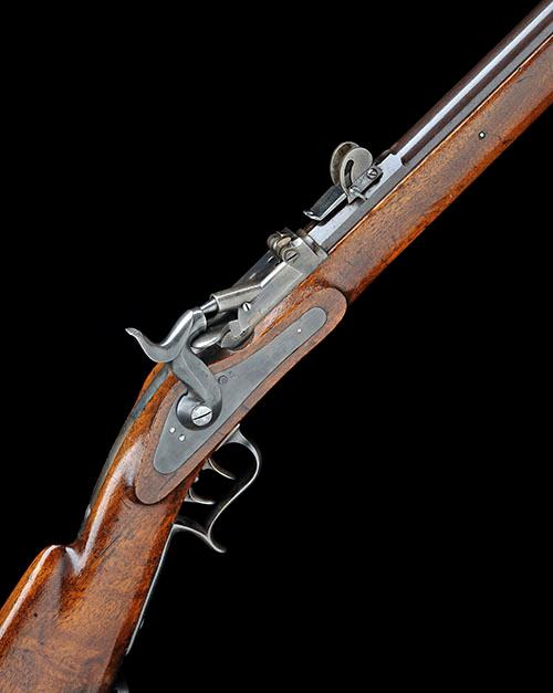 * A .41 (AMSLER RIMFIRE) BREECH-LOADING SERVICE-RIFLE, UNSIGNED, MODEL 'M1867 MILBANK-AMSLER INFANTRY RIFLE', serial no. 51,