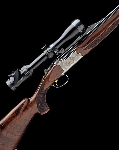 BROWNING S.A. A .30R BLASER SINGLE-TRIGGER OVER AND UNDER EJECTOR DOUBLE RIFLE, serial no. 69142MR,