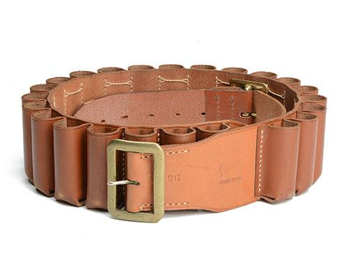 BRADY A LEATHER 8-BORE CARTRIDGE BELT,