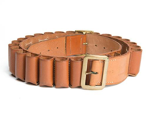 BRADY A LEATHER 10-BORE CARTRIDGE BELT,