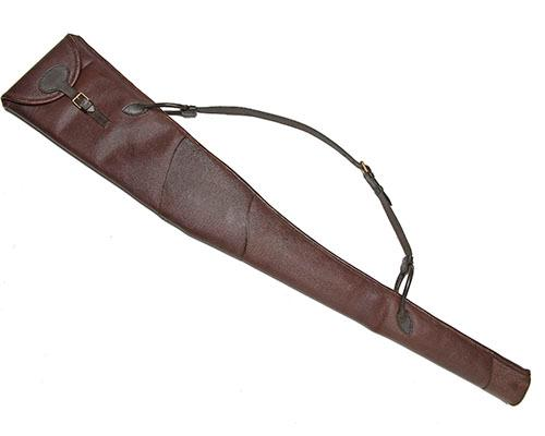 A BAG-HIDE LEATHER FLEECE-LINED SINGLE GUNSLIP,