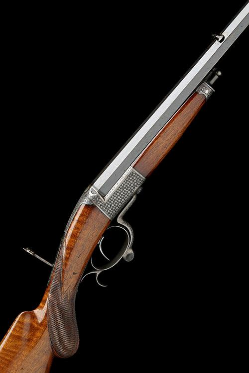 W. COLLATH, FRANKFURT, A GOOD 11.5x50R SINGLE-BARRELLED SLIDE & TILT HAMMERLESS RIFLE, MODEL 'COLLATH'S PATENT', serial no. 1115,