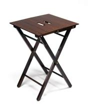 JAMES PURDEY & SONS A SMALL ROSEWOOD AND BRASS FOLDING TABLE,