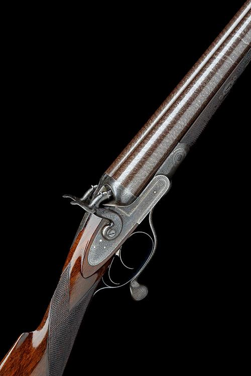 J. PURDEY A 10-BORE (2 7/8IN.) DOUBLE-BARRELLED ROTARY-UNDERLEVER HAMMERGUN, serial no. 9026,