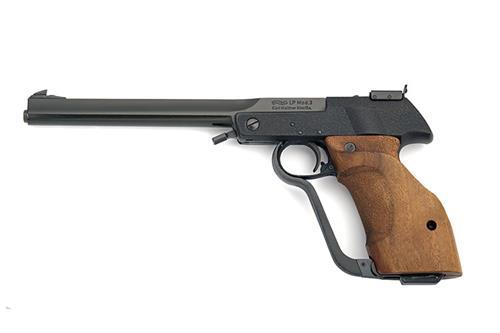 ** WALTHER, GERMANY A SCARCE BOXED .177 SINGLE-STROKE PNEUMATIC TARGET AIR-PISTOL, MODEL 'LP3', serial no. 27249,